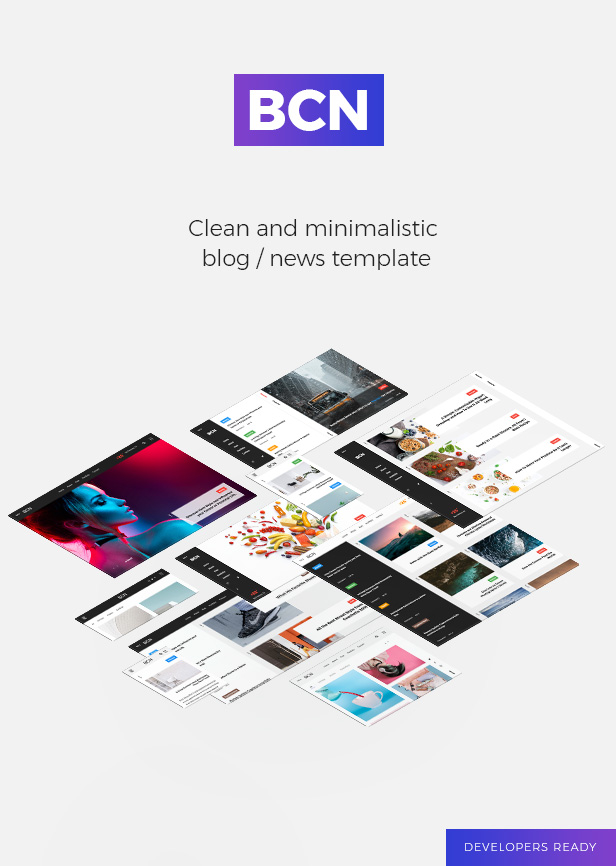 BCN clean and minimalistic modern blog / news template